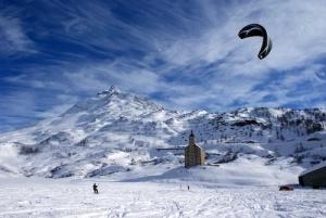 snowkiting Simplon